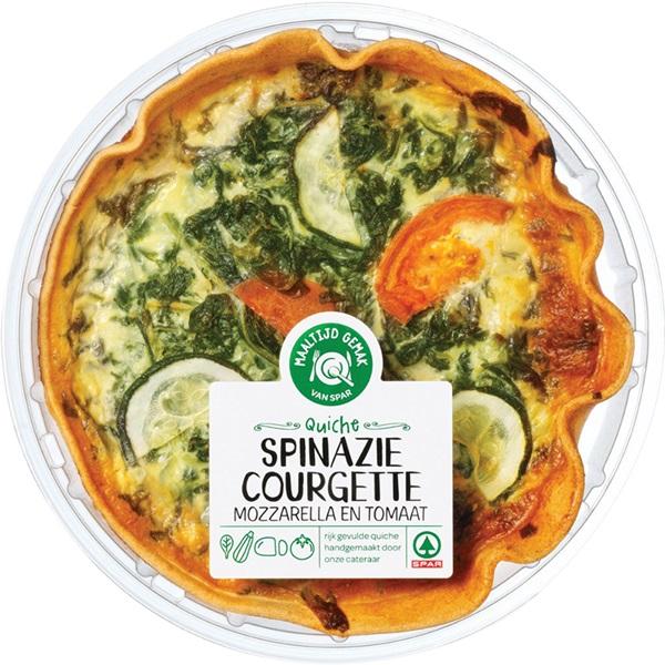 Spinazie Courgette quiche van de Spar